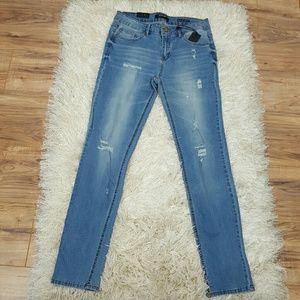 Denim - Skinny jeans Light wash distressed